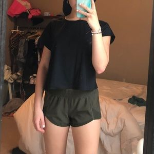 RARE Army Green Lululemon Shorts (Size 6)